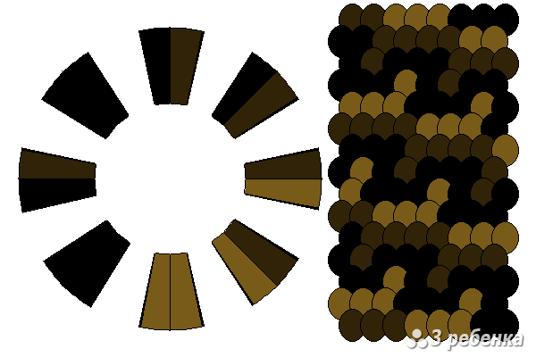 Схема фенечки кумихимо 27039
