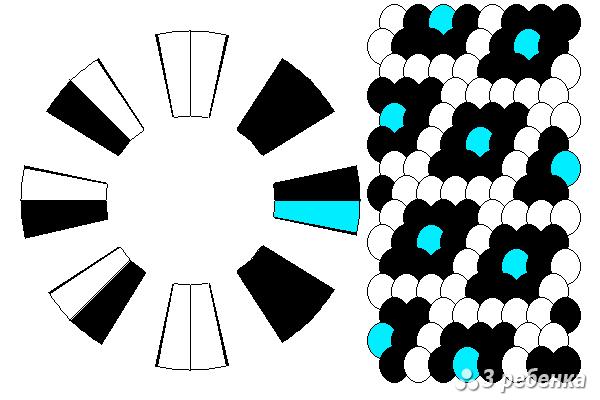 Схема фенечки кумихимо 27009
