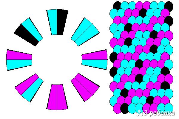 Схема фенечки кумихимо 26976