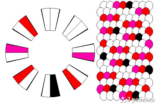 Схема фенечки кумихимо 26972