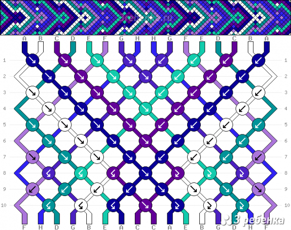 Схема фенечки 29071