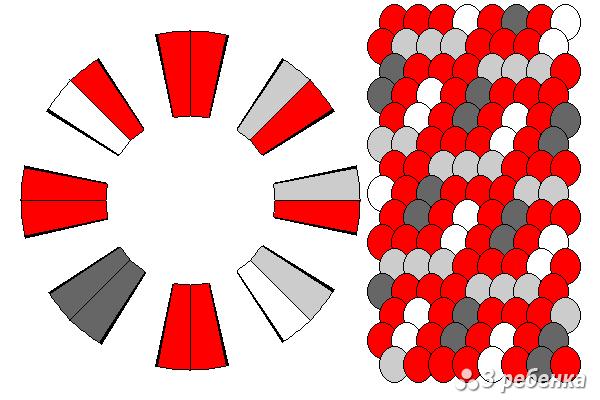 Схема фенечки кумихимо 26918