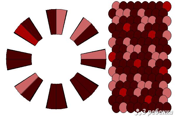 Схема фенечки кумихимо 26898