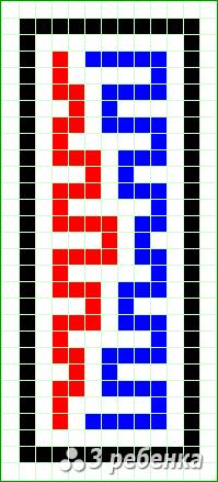 Схема фенечки прямым плетением 26609