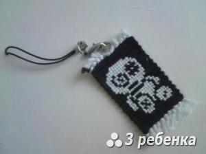 Схема фенечки прямым плетением 27564