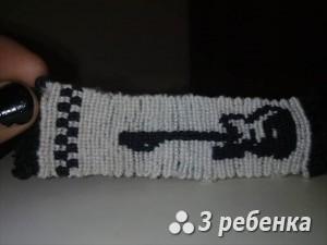 Схема фенечки прямым плетением 27769