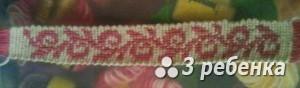 Схема фенечки прямым плетением 27271