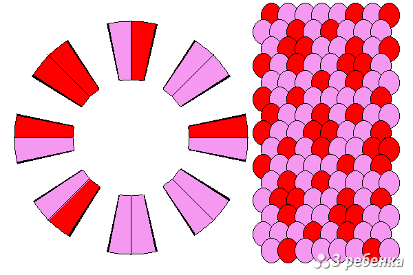 Схема фенечки кумихимо 27592