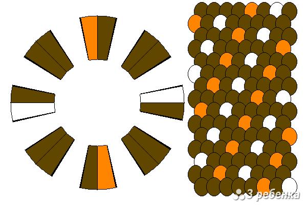 Схема фенечки кумихимо 27586