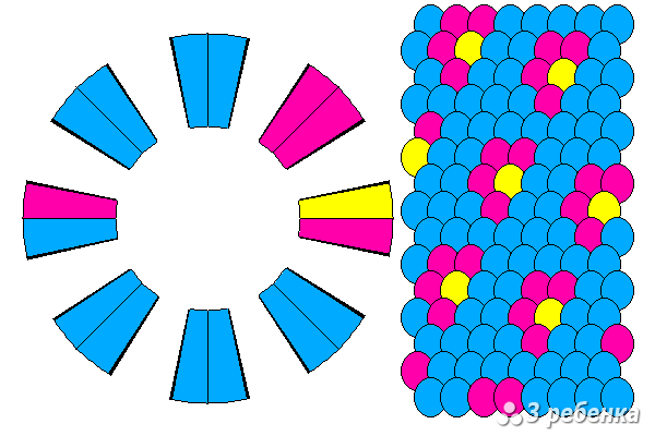 Схема фенечки кумихимо 27438