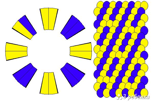 Схема фенечки кумихимо 27434