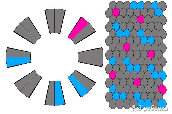 Схема фенечки кумихимо 27430