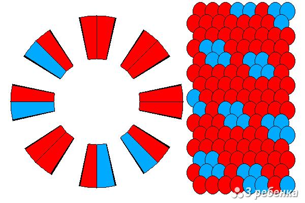Схема фенечки кумихимо 27418