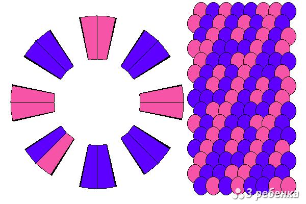 Схема фенечки кумихимо 27414