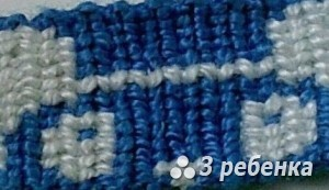 Схема фенечки прямым плетением 27907
