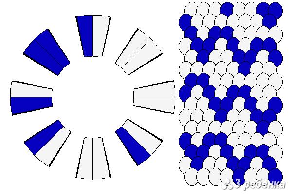 Схема фенечки кумихимо 27410
