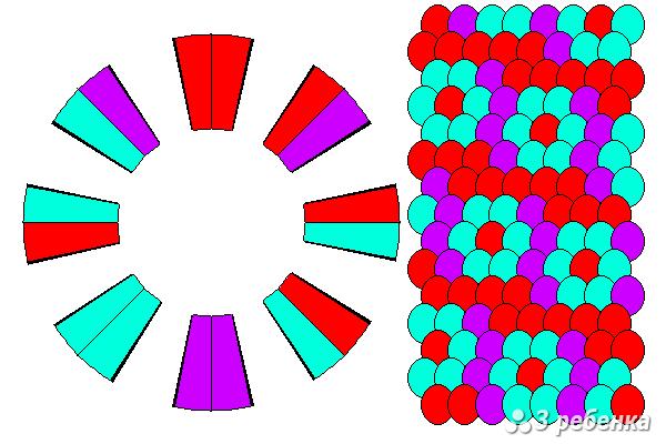Схема фенечки кумихимо 27405