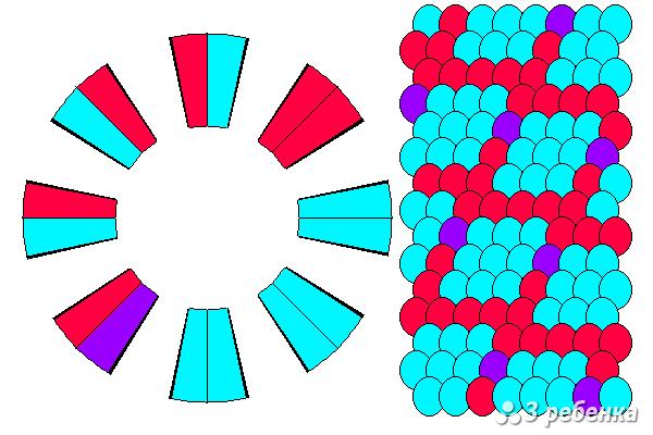 Схема фенечки кумихимо 27397