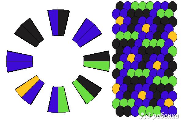 Схема фенечки кумихимо 27368