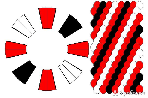 Схема фенечки кумихимо 27199