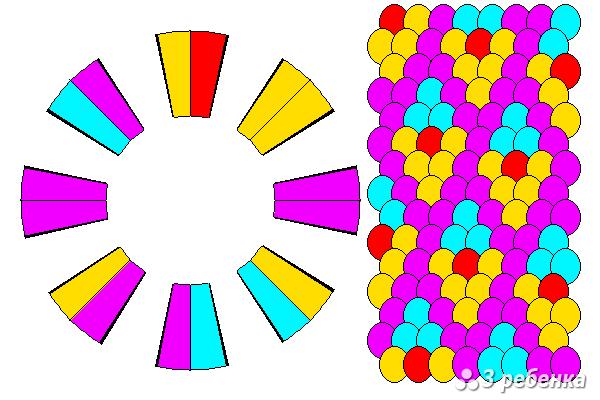 Схема фенечки кумихимо 27186