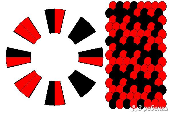 Схема фенечки кумихимо 27173