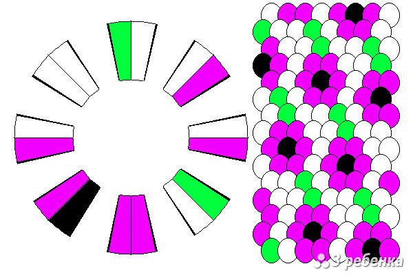 Схема фенечки кумихимо 27164