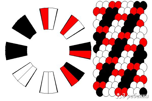 Схема фенечки кумихимо 27144