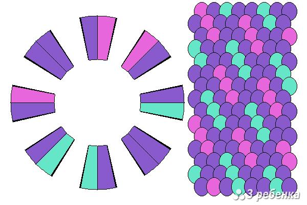 Схема фенечки кумихимо 27136
