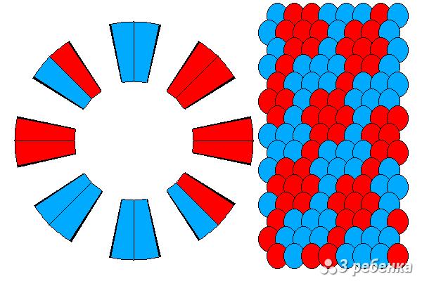 Схема фенечки кумихимо 27128