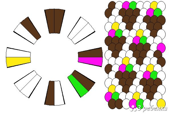 Схема фенечки кумихимо 27122