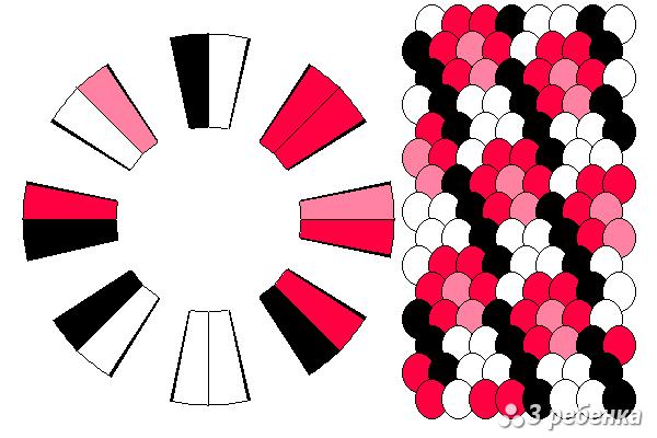 Схема фенечки кумихимо 27098