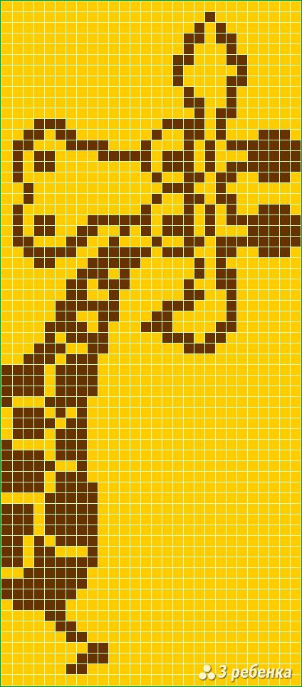 Схема фенечки прямым плетением 27780