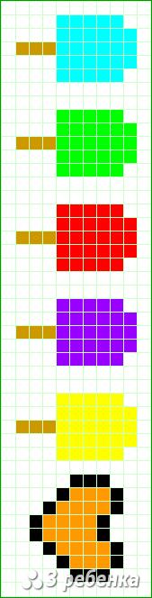 Схема фенечки прямым плетением 27983