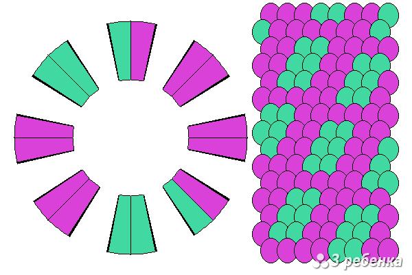 Схема фенечки кумихимо 27845
