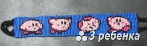 Схема фенечки прямым плетением 28182