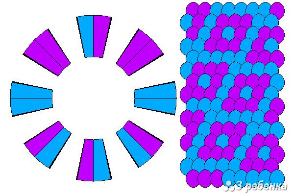 Схема фенечки кумихимо 27874
