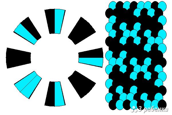 Схема фенечки кумихимо 27836