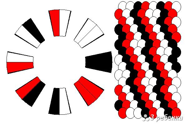 Схема фенечки кумихимо 27866
