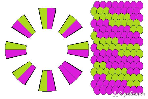 Схема фенечки кумихимо 27669
