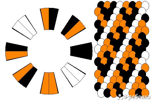 Схема фенечки кумихимо 27649