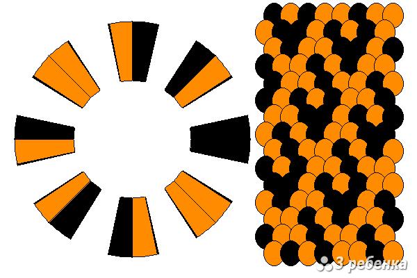 Схема фенечки кумихимо 27645