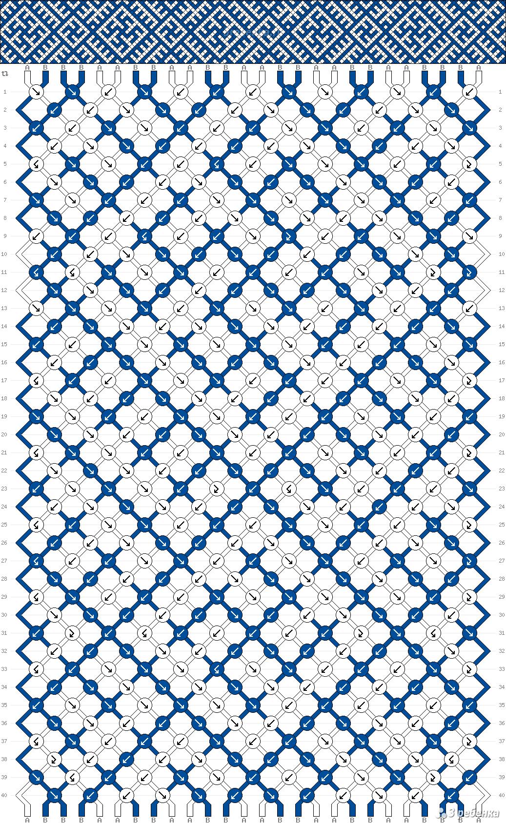 Обозначения схем для фенечек