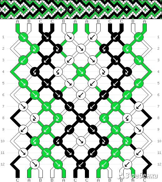 схемы фенечки стрелочка