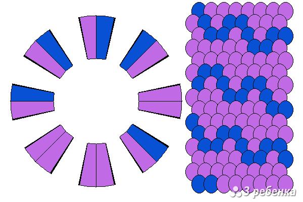 Схема фенечки кумихимо 27612