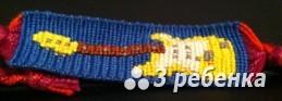 Схема фенечки прямым плетением 28032