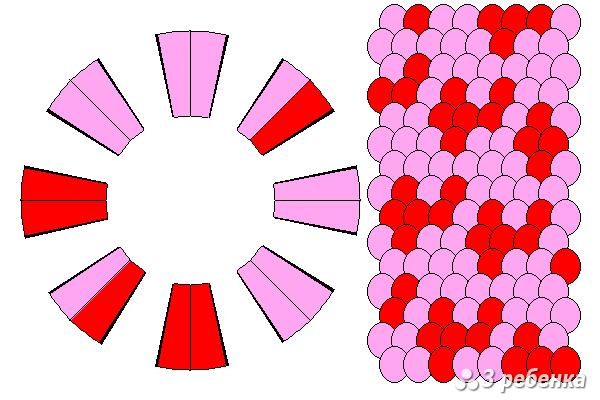 Схема фенечки кумихимо 27858