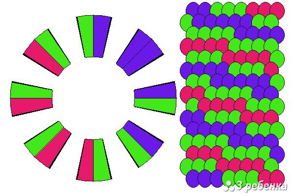 Схема фенечки кумихимо 27883