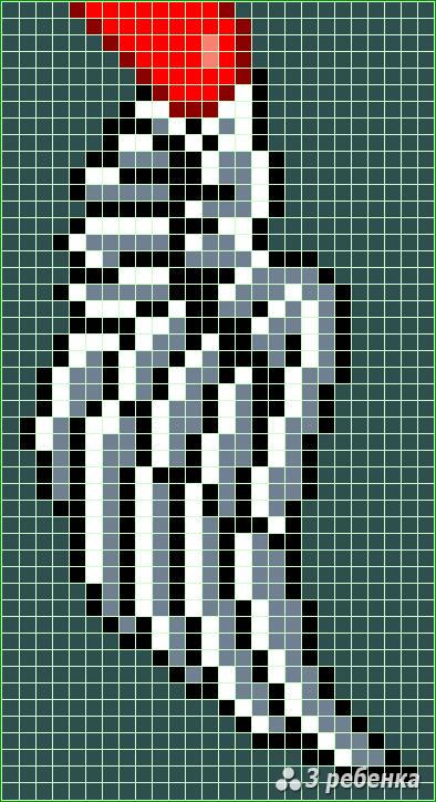 Схема фенечки прямым плетением 28346