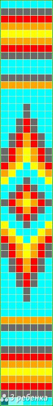 Схема фенечки прямым плетением 28120